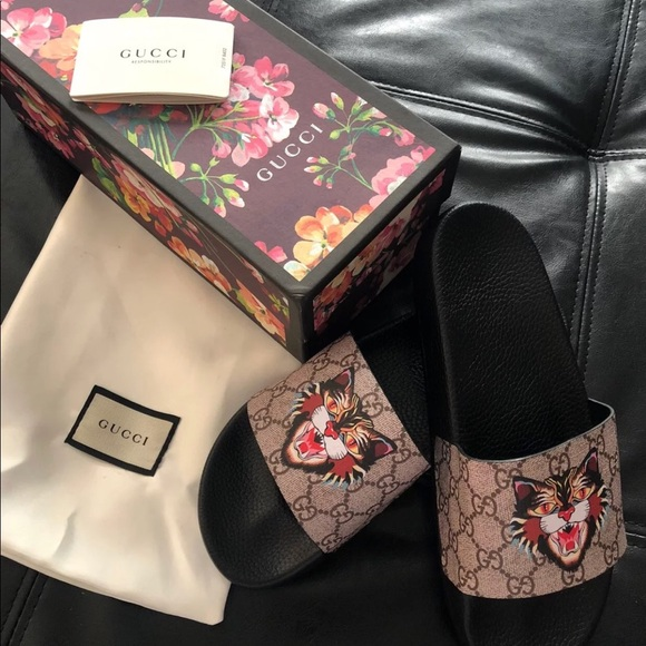 4e4a0502867 Gucci Other - Gucci Angry Cat Slides